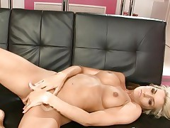 Hottie Natasha Marley torments her juicy soaked love button