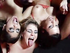 Sahara Knite,Lezley Zen and Isabel Ice bar orgy