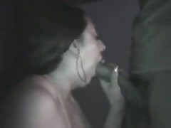 Amateur couple taping their sex on camera in a pure dark room. This babe sucks, licks, jerks and squeezes her husband's penis as this babe awaits her sweet and sticky spunk flow
