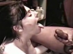 Doxy Angie acquires a sperm shower from a large cock, all in slo motion. Angie sucks the cream from a large 10-Pounder until that babe is sprayed with a massive facial