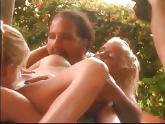 Short fat and hairy, this chap is a master of porn and shows a few tips and tricks on how to make your cock look harder and how he does a great wet crack lick! Talking about pussy, look at that gorgeous busty golden-haired he gives oral. Not only blondes acquire oral from Ron, he even sucks his own dick, can you believe that?