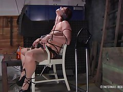 This is art, and as u can see in the 1st scene we have a brown haired doxy tied on a char and punished with electric shocks on her pussy. Then we get to see the same bitch and another one tied in position 69 on the bed. If it excites u then why not see it, it surely deserves your time and attention!