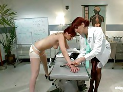 This is the kind of doc that you will barely await to see. She's a devilish redhead with a excitement to dominated, especially other sluts! Her patient came for a routine check and discovered herself undressed and booty slapped until that hot booty turned red. Now that the doc slapped her she licks her booty with passion.