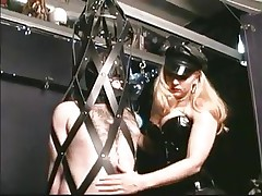As soon as this chab steps into the dungeon the chap barely waits for his mistress. Many guys love being dominated by sexy sluts and some trip a long way to acquire such a treatment. In the real world we put value on honor and pride, but these guys give it all away for some fine butt spanking and penis torture, check it out