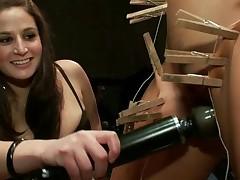 Slutty sex serf acquires a nasty public punishment