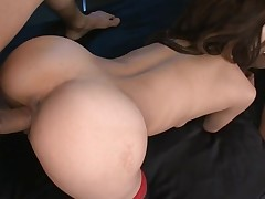 Taut cookie slut rams a obese marital-device in her bawdy cleft making it wet