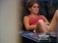 girlfriend caught on hidden camera masturbating