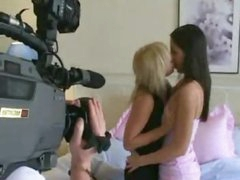Beautiful lesbians making sweet love