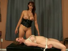 Mistress in corset wants her moist crack eaten