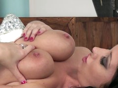 Brunette Lexi Lowe with delicious big marangos
